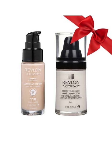 Revlon Pachet (Fond Ten Colorstay Ten Gras Combinat 110 Ivory 30ml + Primer Photoready 27ml)