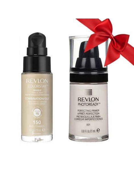 Revlon Pachet (Fond Ten Colorstay Ten Gras Combinat 150 Buff 30ml + Primer Photoready 27ml)