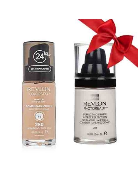 Revlon Pachet (Fond Ten Colorstay Ten Gras Combinat 250 Fresh Beige + Primer Photoready 27ml)