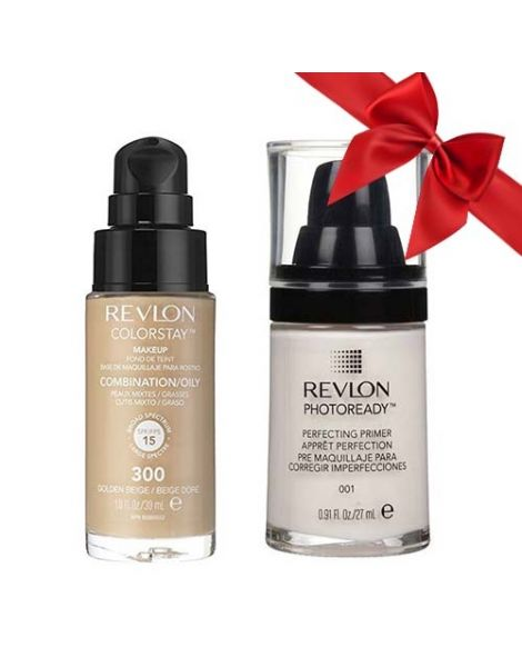 Revlon Pachet (Fond Ten Colorstay Ten Gras Combinat 300 Golden Beige + Primer Photoready 27ml)