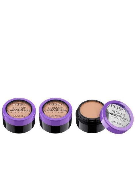 Catrice Pachet 3X Corector Concealer Ultimate Camouflage Cream 020N Light Beige 3g