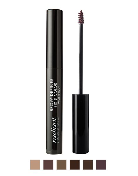 Radiant Mascara Sprancene Brow Definer Fix & Color Waterproof 5ml