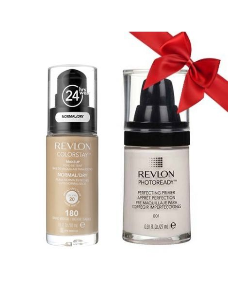 Revlon Pachet (Fond Ten Colorstay Ten Normal Uscat 180 Sand Beige + Primer Photoready 27ml)