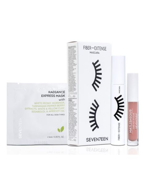 Seventeen Set (Mascara Fiber + Extense 14ml + Ruj Matlishious 04 2.5ml + Masca Fata 6ml)